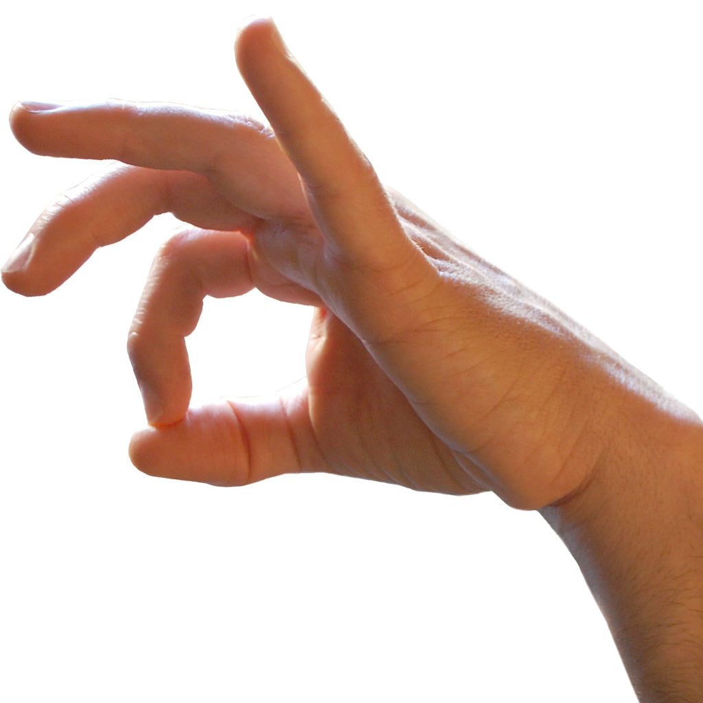 The OK hand position used for jelqing