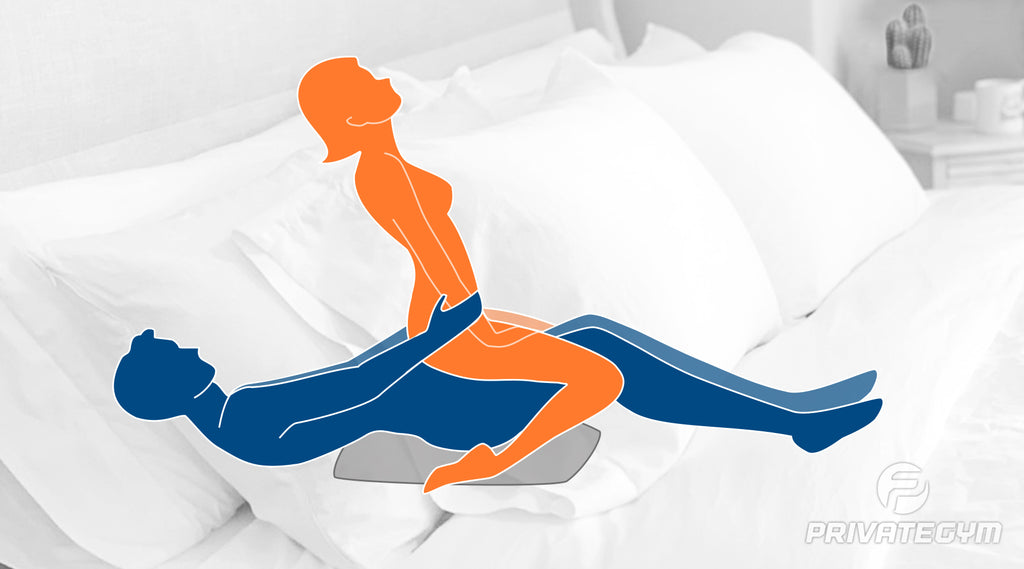 sex position the reverse cowgirl (with a pillow)