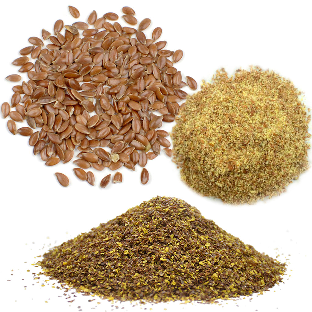 The ingredients of flax seed and hull powders