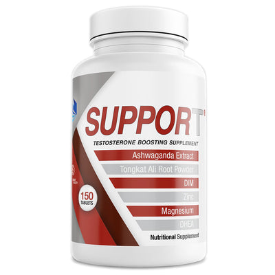 SupporT Natural Testosterone Booster front of bottle