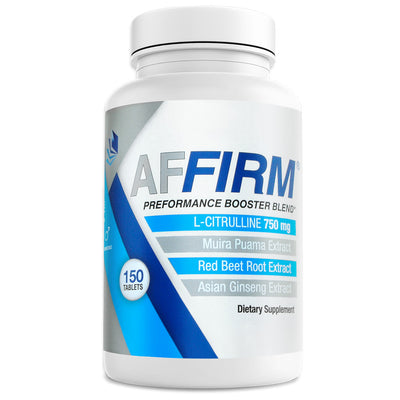 Affirm Nutritional Supplement for penile blood flow front of bottle