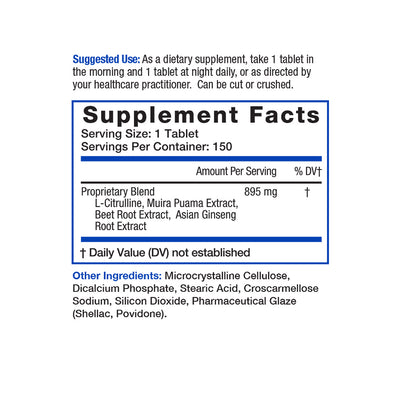 Affirm Nutritional Supplement for penile blood flow supplement facts