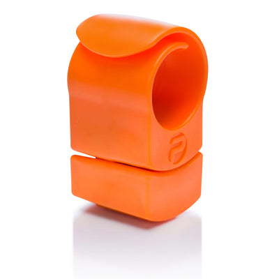 Private Gym resistance ring orange with extra weight side view