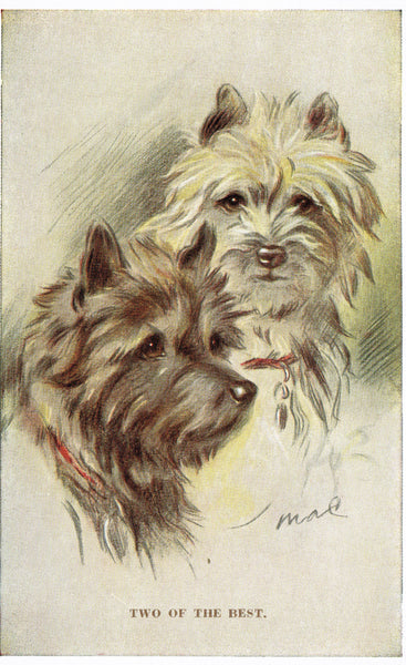 Artist Mac Two of the Best - Dogs Valentines 1950's