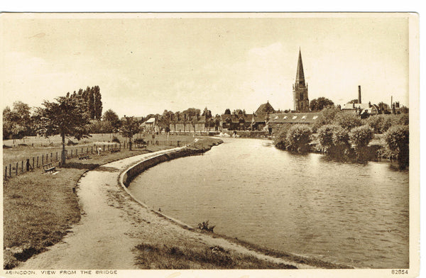Abingdon view from teh Bridge  Publisher Photochrom