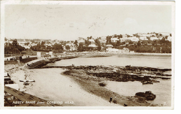 Abbey Sands From Corbyns Head RP 1949