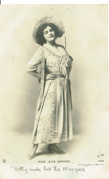 Actress Miss Evie Green RP Publisher Giesen 1900's