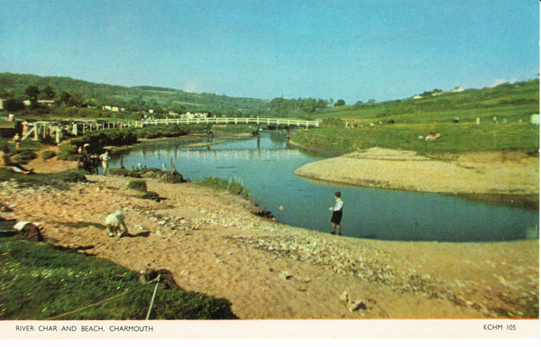 Charmouth River and Beach 1960's Publisher Jarrolds
