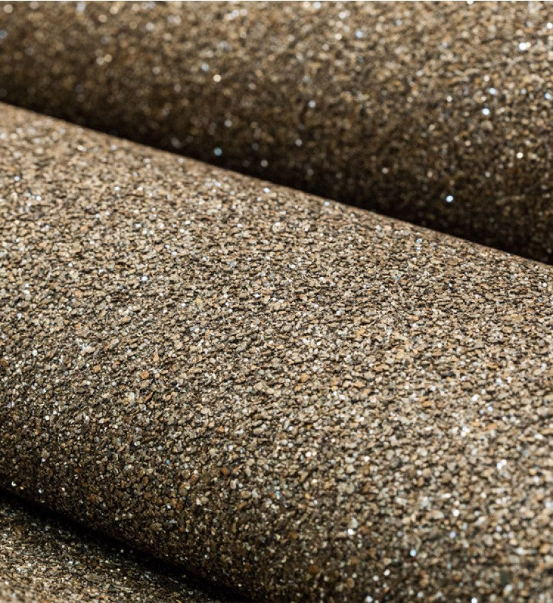 Mica Glitter Wallpaper (Bronze With Silver Glitter) - MS53