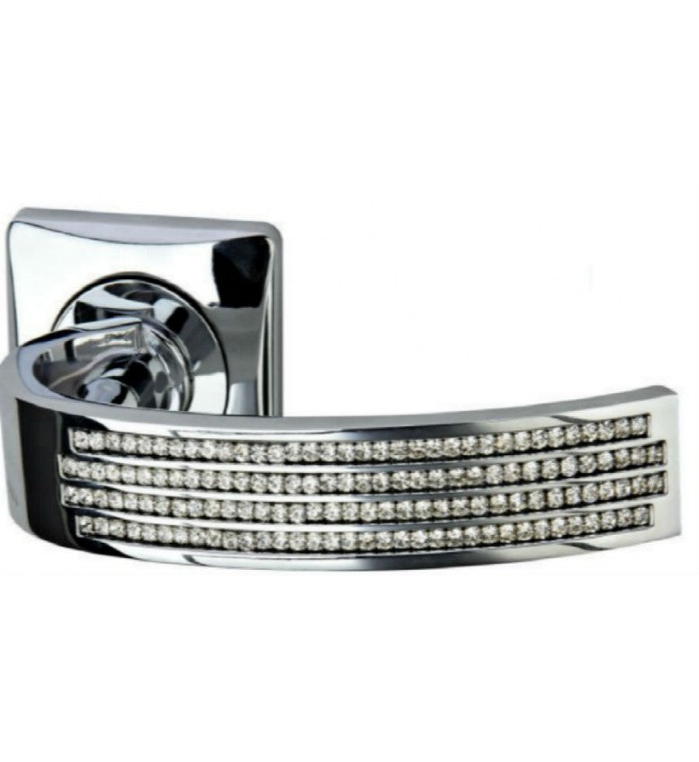 Diamante Curve Door Handle