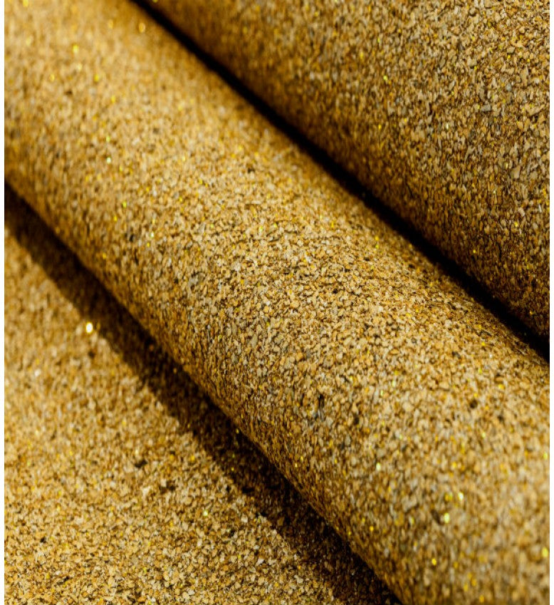 Mica Glitter Wallpaper (Sandy Gold With Gold Glitter) - MS51