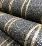 Mica Curve Glitter Wallpaper (Black With Gold Glitter) - MSC59