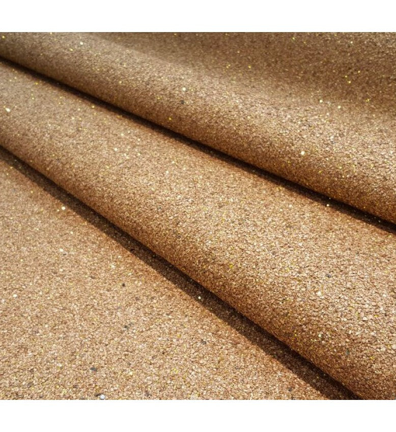 Mica Glitter Wallpaper (Rose Gold With Gold Glitter) - MS52