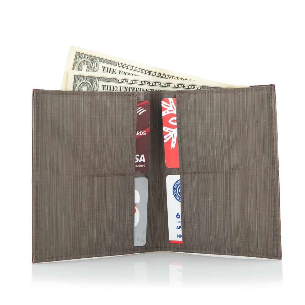High Capacity Wallet holding cash and cards
