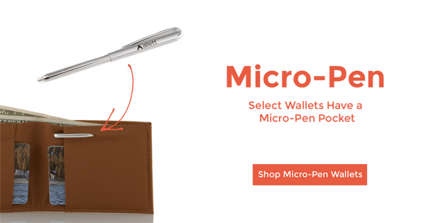 Micro-pen for slim allett wallet