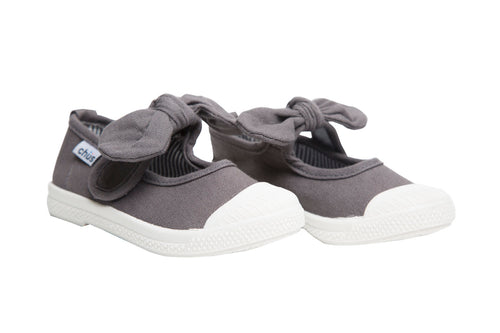 Chus Athena Grey Bow Shoe