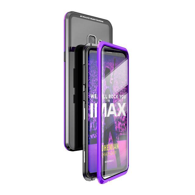 2019 Upgraded Version Magnetic Adsorption Transparent Tempered Glass Two side Glass Cover Phone Case For Samsung Note9/Note8/S9/S9Plus/S8/S8Plus