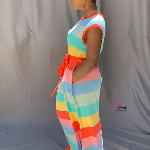Candy Crush Stripe Maxi Dress