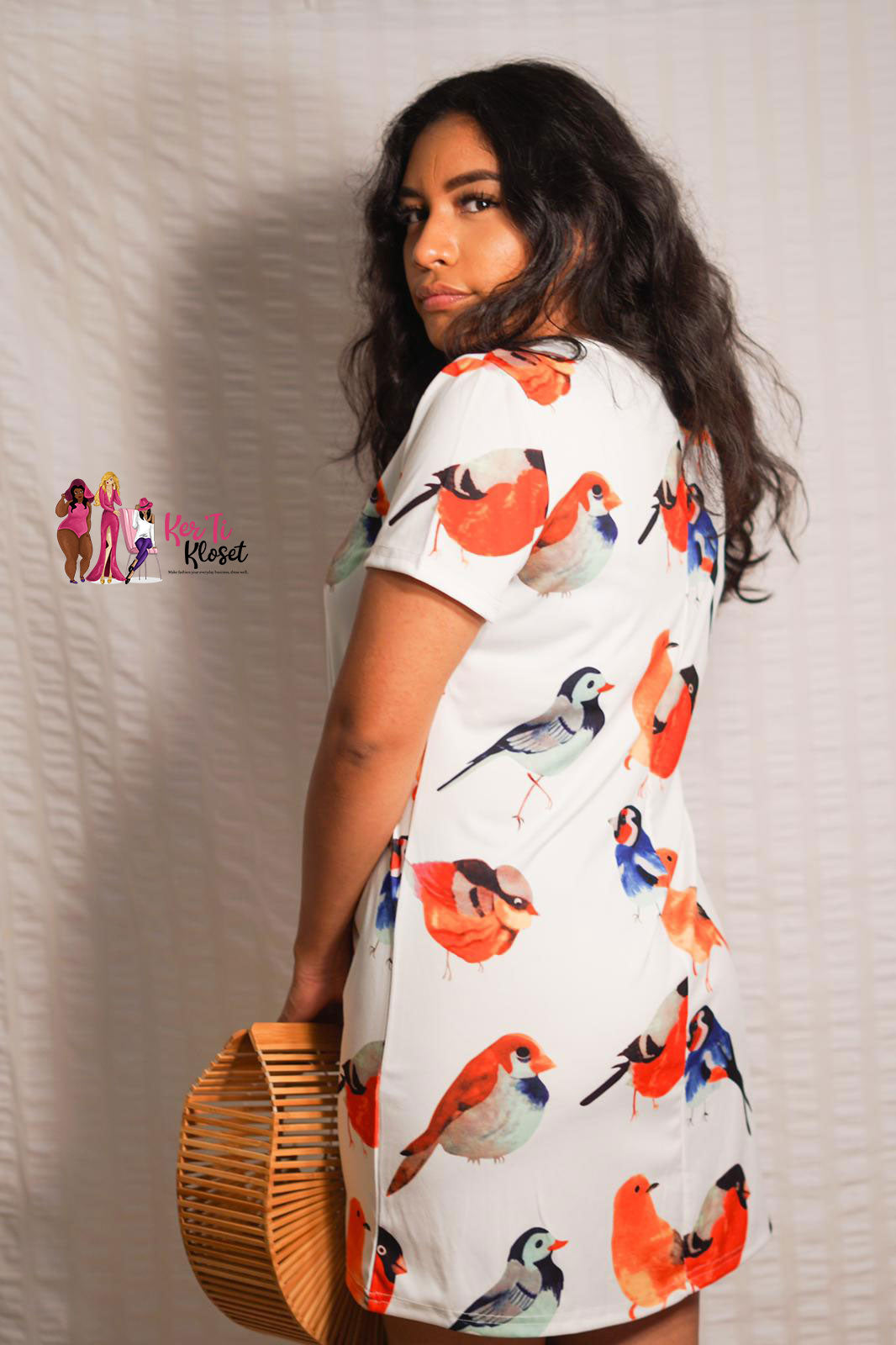 Bird T-Shirt Print Dress