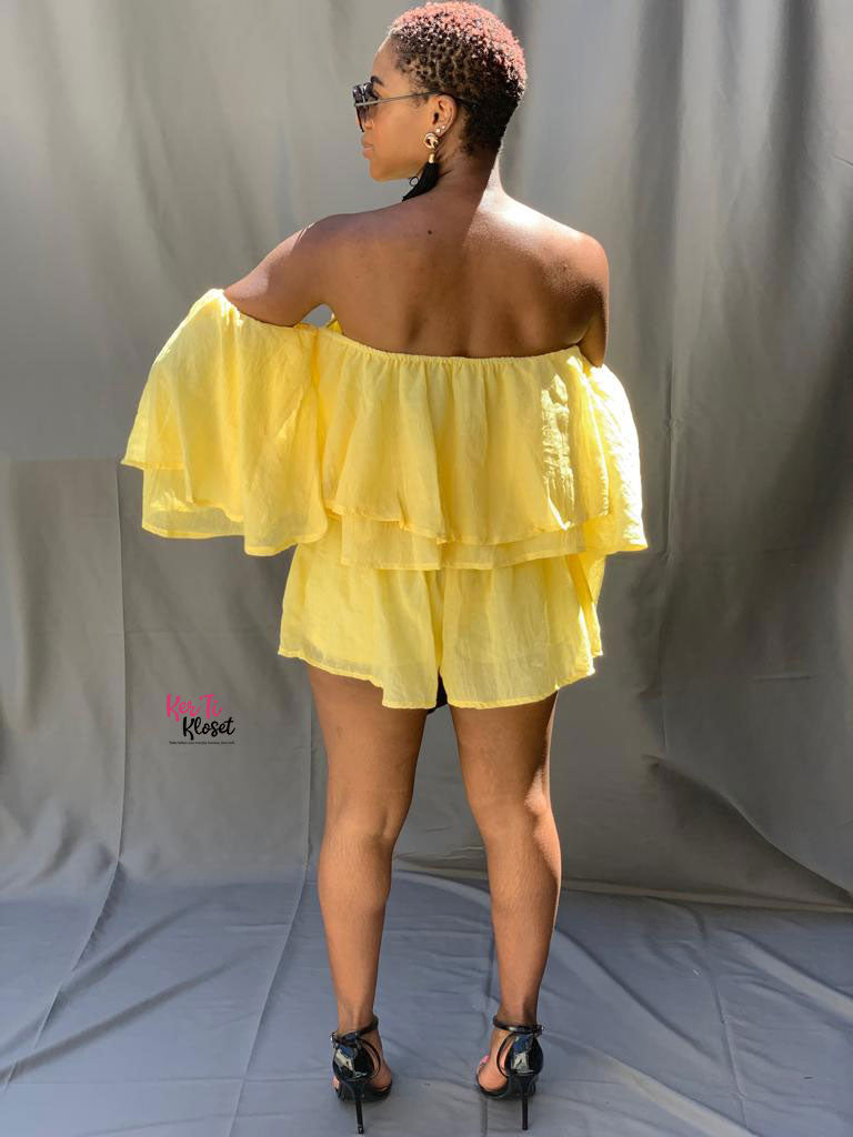 Sunshine Ruffle Top Shorts Set