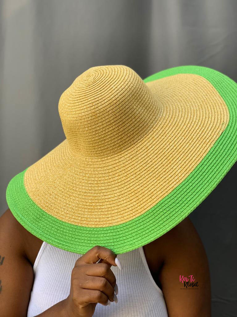 Rock the Boat Straw Sun Hat Lime Green