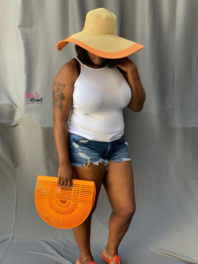 Rock the Boat Straw Sun Hat Orange