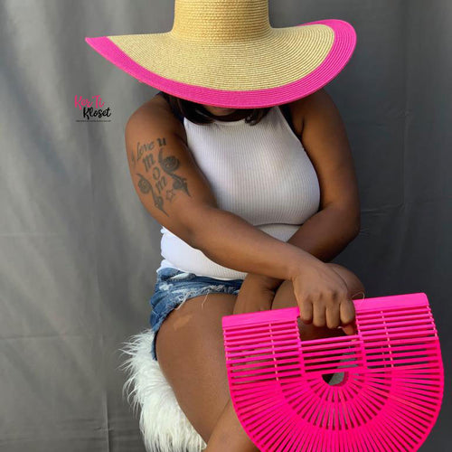 Rock the Boat Straw Sun Hat Pink