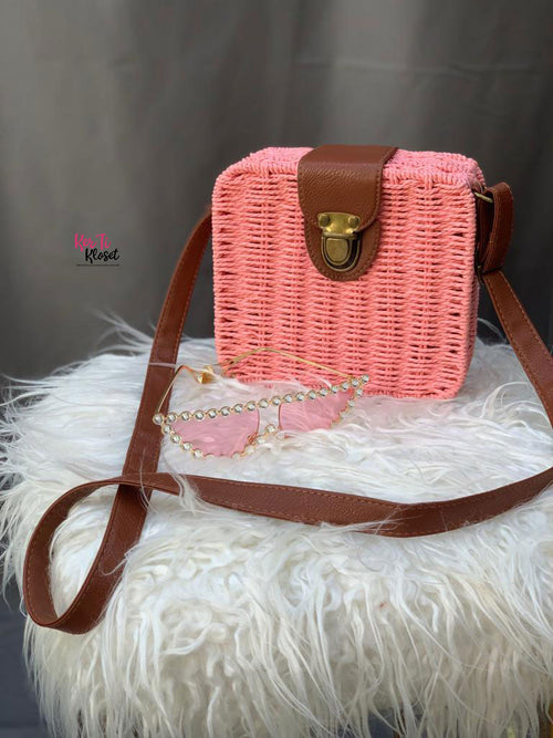 Boho Square Straw Bag