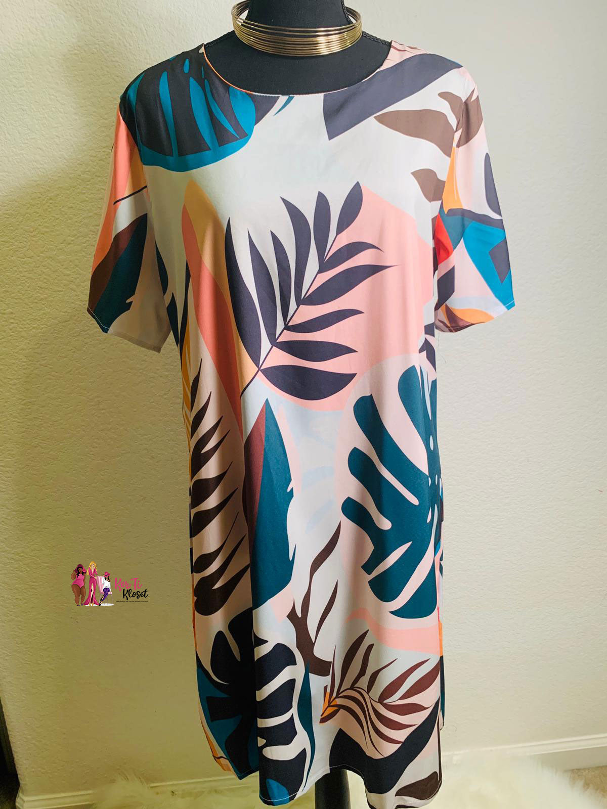 Plus Size Spring Print Dress