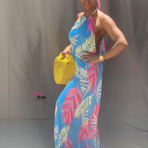 Hawaiian Breeze Maxi Dress
