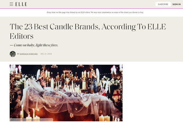 ELLE | The 23 Best Candle Brands, According To ELLE Editors
