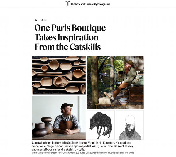 New York Times | One Paris Boutique Takes Inspiration From the Catskills