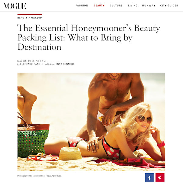 Vogue | The Essential Honeymooner's Beauty Packing List: What to Bring by Destination