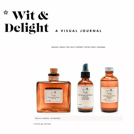 Wit & Delight | Cold Spring Apothecary