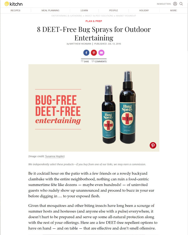 Kitchn | 8 DEET-Free Bug Sprays for Outdoor Entertaining