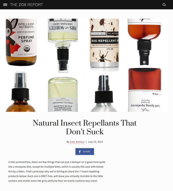 The Zoe Report | Natural Insect Repellants That Don't Suck