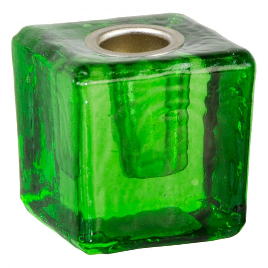 Green Glass Chime Spell Candle Holder