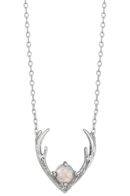 Antler Necklace-Silver or Gold