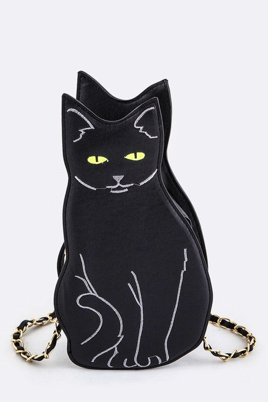 Black Cat Purse front