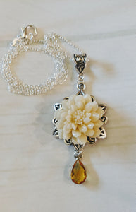 Chrysanthemum Topaz Necklace