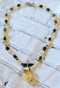 Citrine Russian Jade Necklace