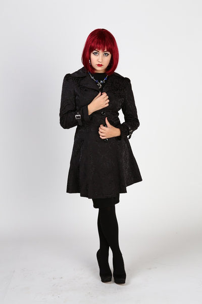 Daywalker Trenchcoat (Black Brocade)