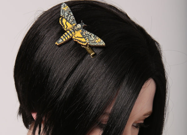 Death's Head Moth Hair Clip