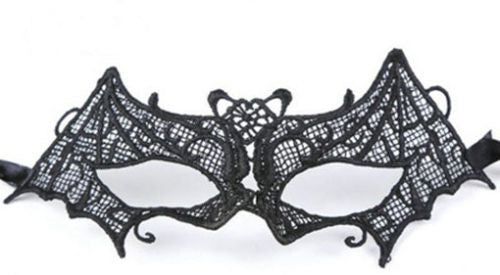 Black Lace Bat Mask