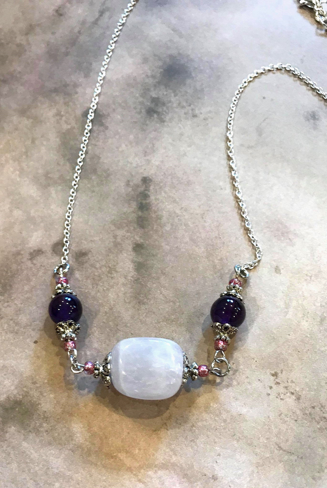 Handmade Rose Quartz Necklace