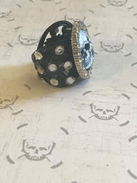Handmade Framed Skull Ring