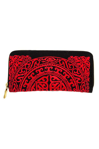 Embroidered Wallet (Red)