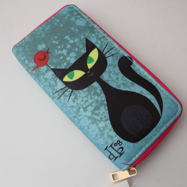 Black Kitty Wallet