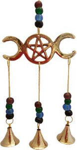 Triple Moon Beaded Windchimes