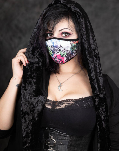 Gothic Rose Garden Face Mask